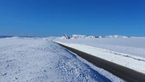 Fra midten av Valdresflye i retning sør med Bitihorn i bakgrunn