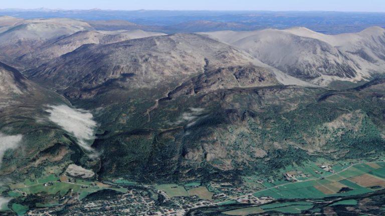 Skurvefjell fra Google earth